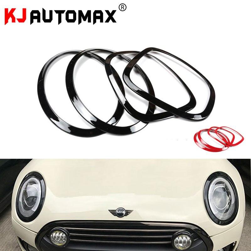 KJAUTOMAX для Mini Cooper F55 F56 PC декоративное кольцо для фар красного и черного цвета