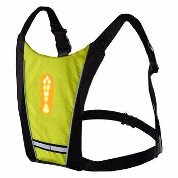 Светоотражающий защитный жилет велосипедный водостойкий 48 светодио дный указатель поворота жилет наружный бег/Ночная ходьба/Велосипедный...