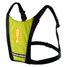 Светоотражающий защитный жилет велосипедный водостойкий 48 светодио дный указатель поворота жилет наружный бег/Ночная ходьба/Велосипедный жилет пальто