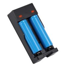 цена на 2 slots smart universal USB battery Charger for 18650 16340 14500 18350 18500 3.7V LI-Ion Rechargeable battery