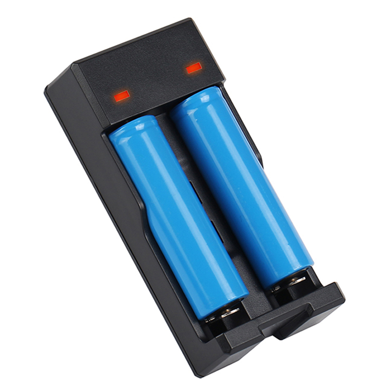 2 slots smart universal USB battery Charger for 18650 16340 14500 18350 18500 3.7V LI-Ion Rechargeable battery