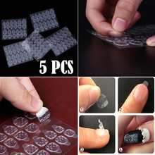 5 Sheets/24pcs breathable waterproof glue adhesive tape double sided nail sticker art nail decals art false tips DIY Sticker