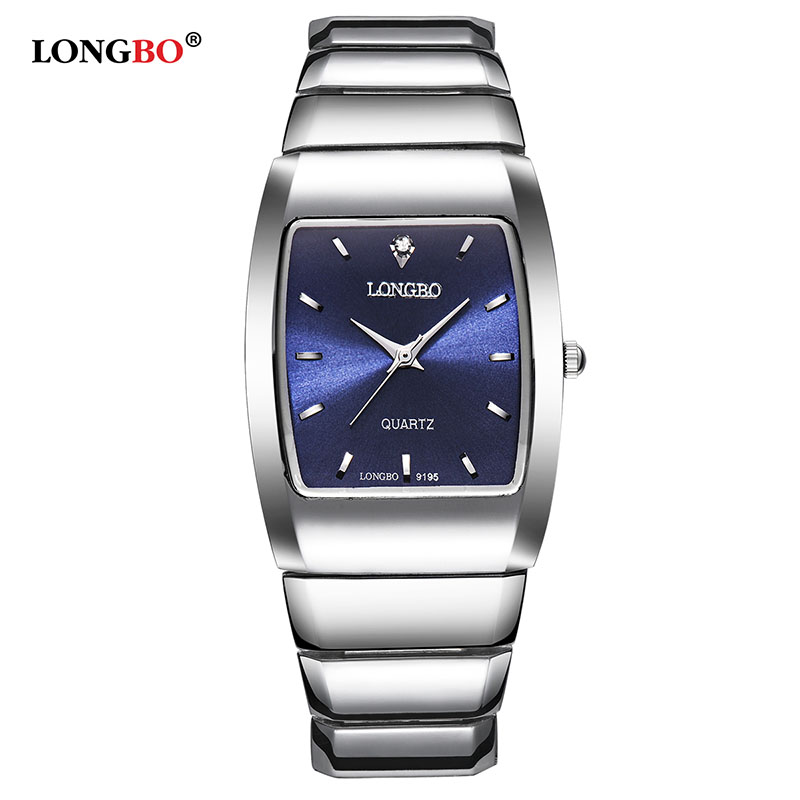 Longbo Brand New Arrival Model Watches Clock For Men Women Couple Stainless Steel Cheap Wristwatches With Square Dial montre longbo 2017 big promotion watches clock for men women gentl ladies stainless steel wristwatches with big face dial dropshipping