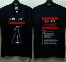 Bon Jovi 2019 European Tour With Dates T-Shirt  Men T Shirt Great Quality Funny Man Cotton cathy hopkins mates dates and great escapes