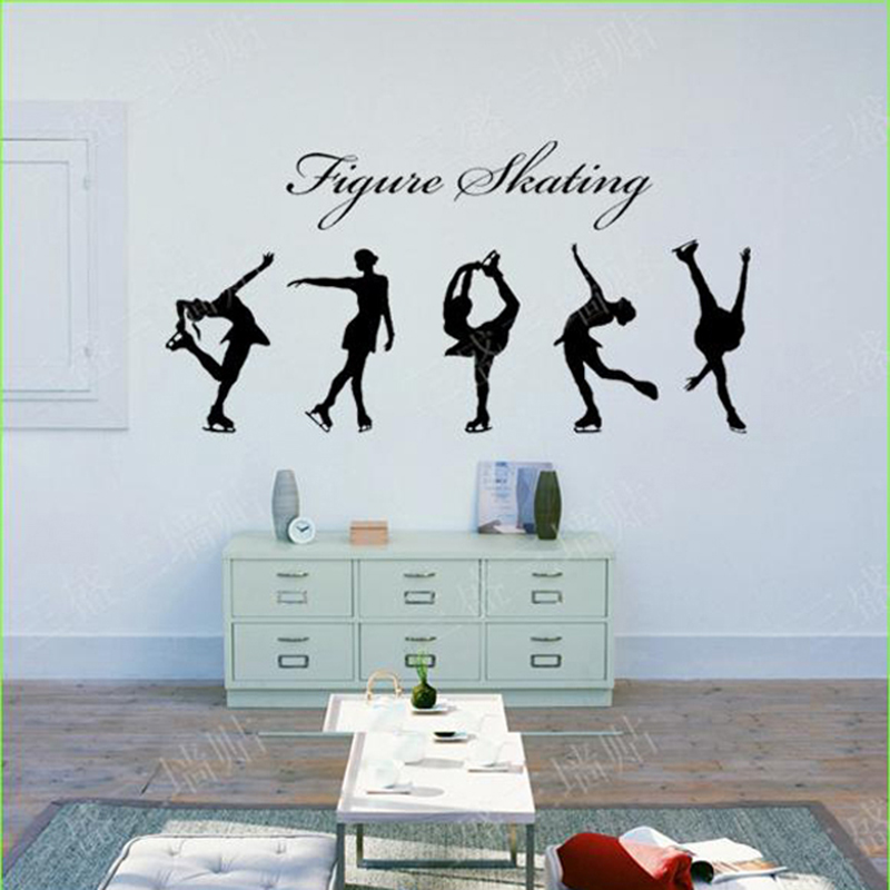 Buy figure skating girls wall stickers for Stickers para habitaciones juveniles
