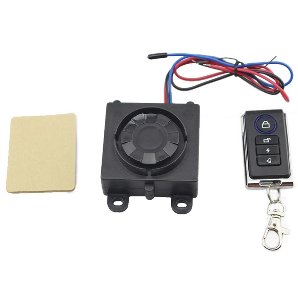 Universal Motorcycle Alarm Warner Bike Scooter Anti-theft Security Alarm System Remote Control Shock Sensor 12V Burglar Alarm