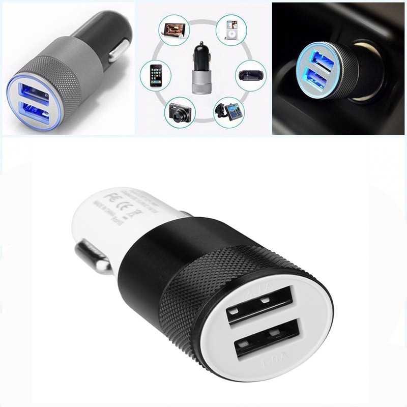 12V 3.1A Mini Dual 2 Twin Puerto USB cargador en coche encendedor automático cargador adaptador Universal teléfono móvil