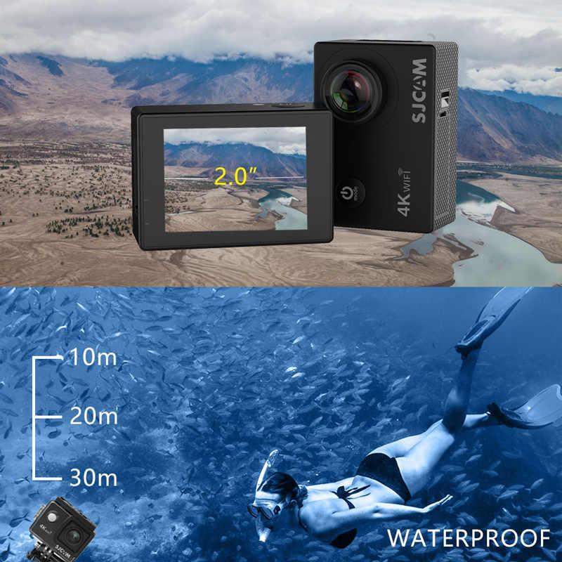 """SJCAM SJ4000 AIR Действий Камеры Full HD Allwinner 4К 30FPS WIFI 2.0"""" Экран Мини Шлем Водонепроницаемый Спорт DV Камера, Лыжная камера, камера для дайвинга"""