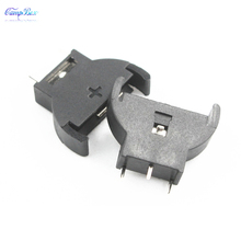10Pcs Vertical-Type CR2032 Coin Button Cell Lithium Battery Case Holder Socket Junction Box