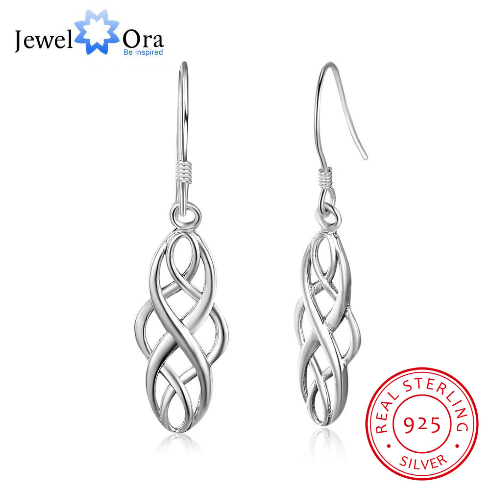 Vintage Hollow Pattern 100% 925 Sterling Silver Drop Earrings For Women Fashion Style Jewelry Gift For Girls(JewelOra EA101979)