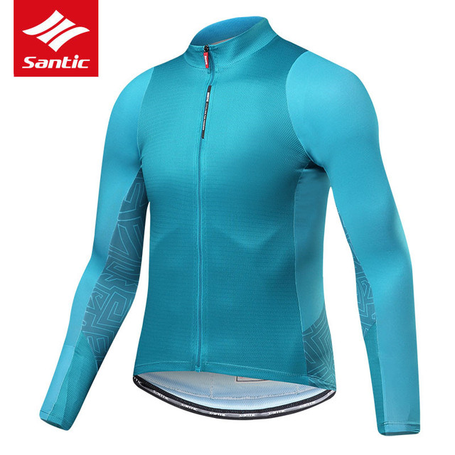 SANTIC Cycling Jerseys For Men Long Sleeves Pro Fit Sun-protective Mtb Road  Bike Knitwear Spring Autumn Bicycle Sports T-shirts f82213caa