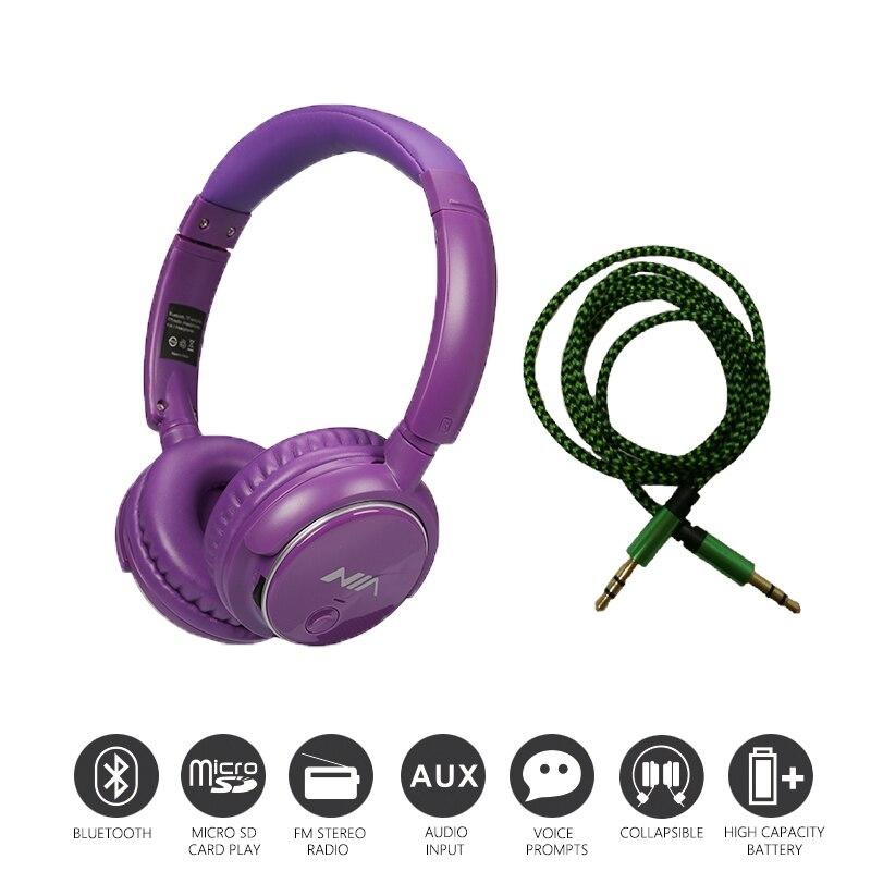 Economic Set: Original NIA Q1 + AUX Cable a Set Bluetooth Headphone Wireless Stereo Headset economic methodology