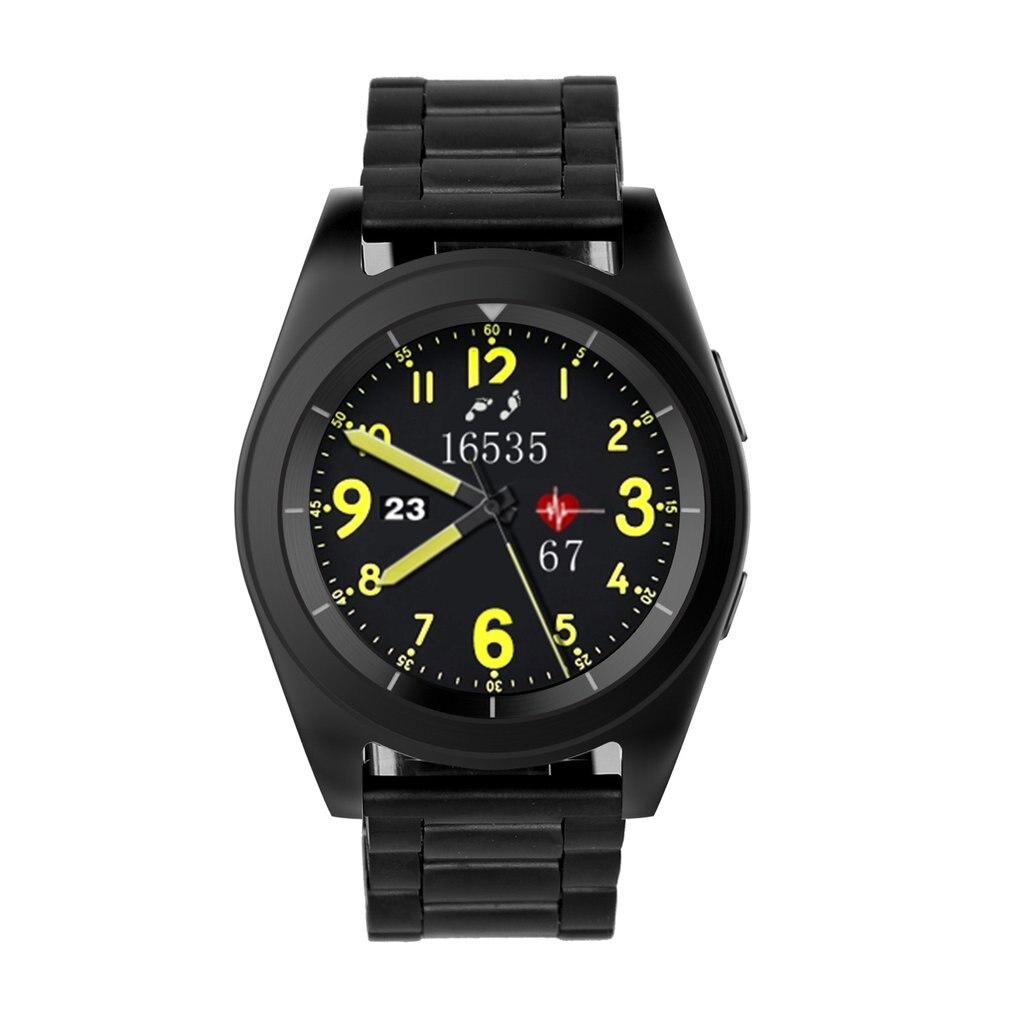 Multi-funzione di Smart Watch Supporto SIM Card Chiamata Bluetooth Frequenza Cardiaca Pedometro Sport Orologi da Uomo In Acciaio Impermeabile SmartbandMulti-funzione di Smart Watch Supporto SIM Card Chiamata Bluetooth Frequenza Cardiaca Pedometro Sport Orologi da Uomo In Acciaio Impermeabile Smartband
