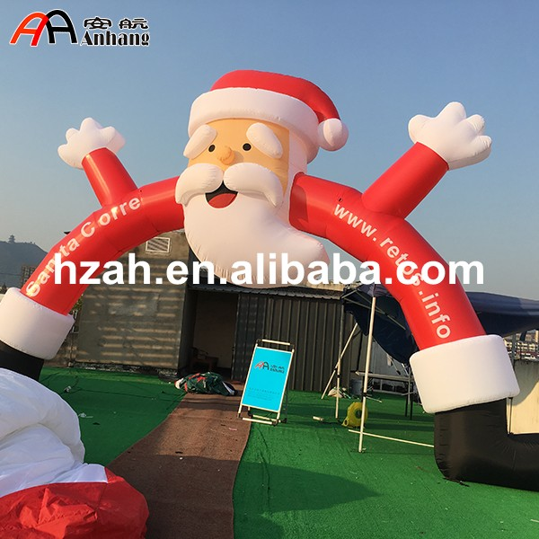 Customized Inflatable Santa Arch for Xmas Decor commercial sea inflatable blue water slide with pool and arch for kids