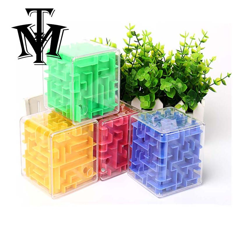 Toys & Hobbies Puzzles & Games Reliable 3d Maze Cube Puzzle Kids Brain Game Challenge Children Labyrinth Rolling Magical Maze Ball Balance Educational Toys Magic Cubes