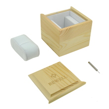 Pine Wooden Square Box With Soft Pillow