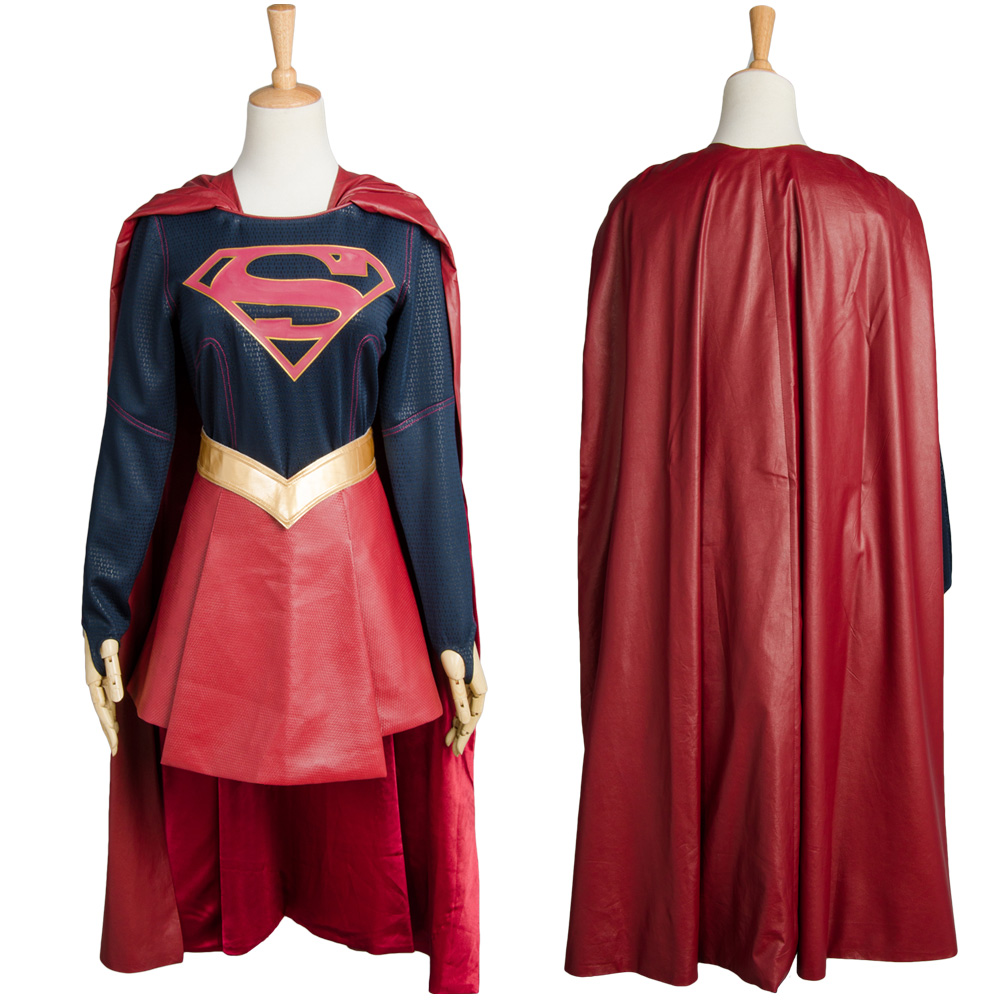 Delicious Supergirl Kara Zor-el Danvers Halloween Adult Costume Suit Dress Outfit Halloween Carnival Adult Women Cosplay Full Sets Reliable Performance Women's Costumes