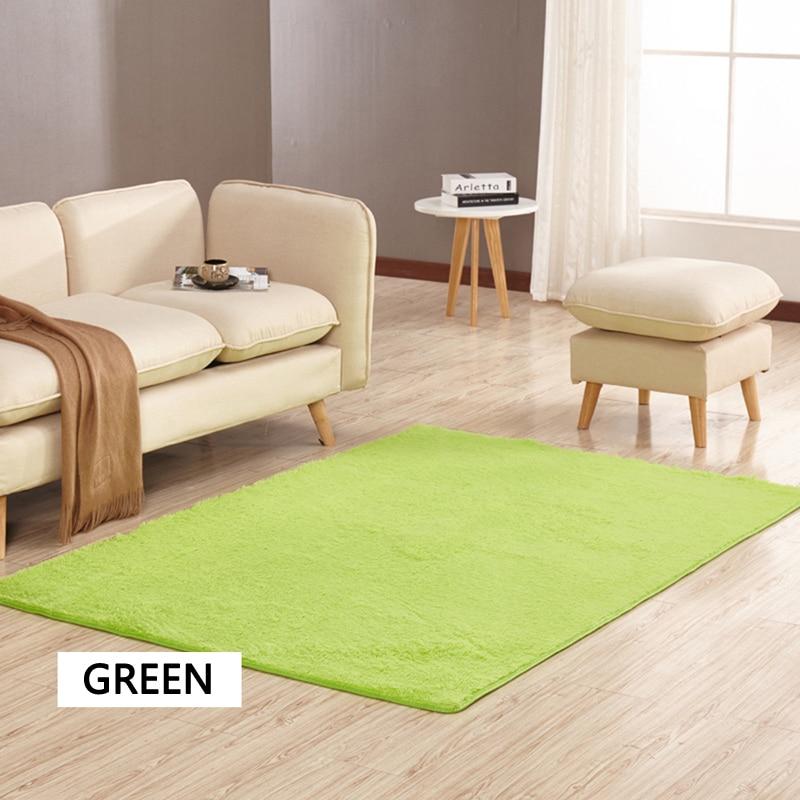 EHOMEBUY New Arrival Rugs Green Rectangle Anti Slip Door Mats Short Haired Carpets For Living Room Bedroom Floor Rugs 14 Sizes