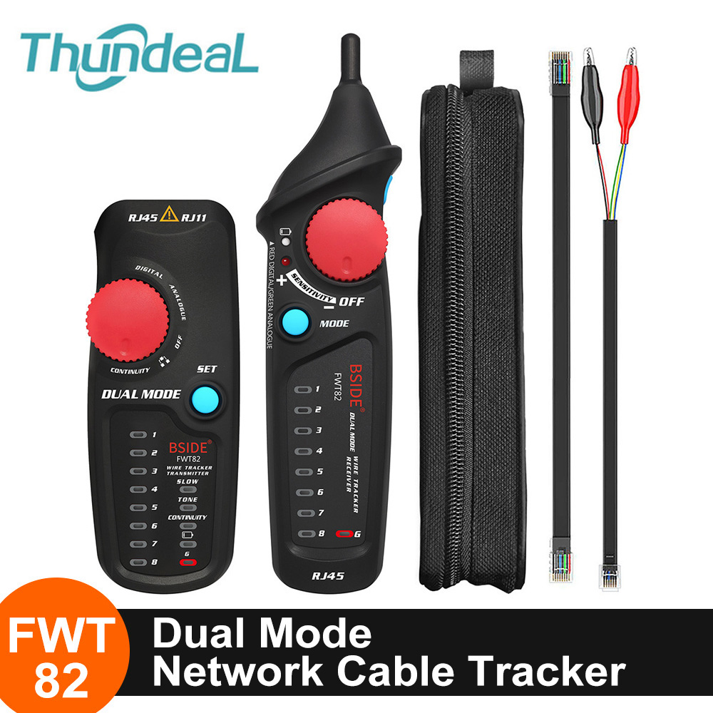 RJ45 Network Cable Tester Lan Tester Cable Tracker RJ11 Analyzer Detector Line Finder Network Tools Telephone Wire Finder Tester