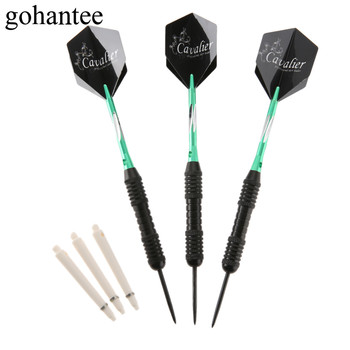 gohantee 3 Pcs/Box Green Professional 22g Steel Darts High Quality Steel Needle Tips Darts Nice Flights for Electronic Dartboard цена 2017