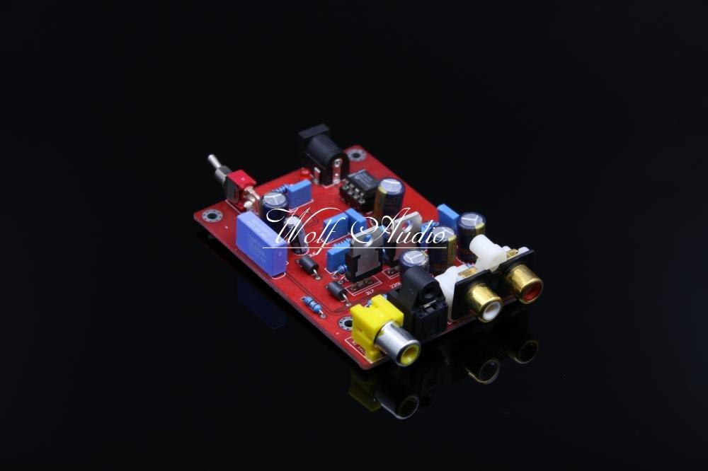 SENGTERBELLE Assembly Stereo HiFi TDA1543+CS8412 DAC Audio Decoder Board