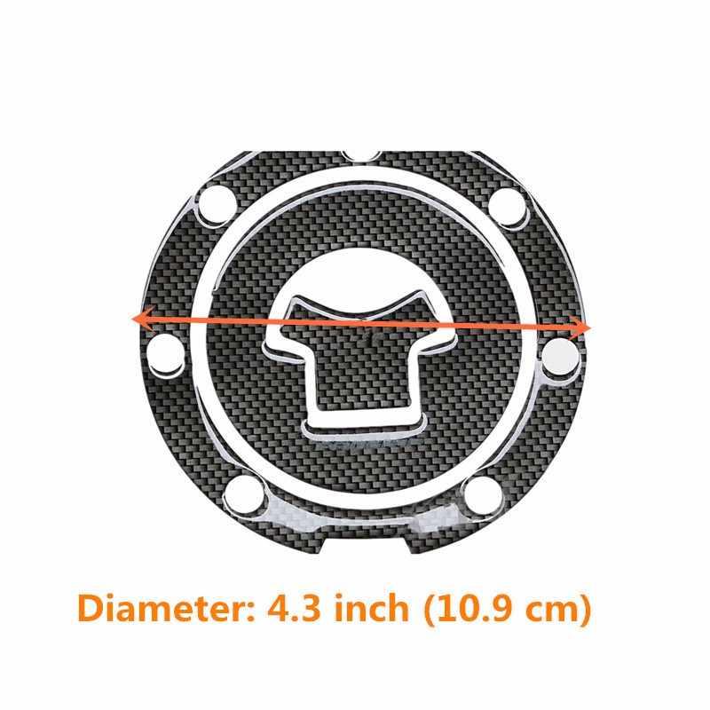 Karbon Fiber motosiklet gaz yağı kapatma başlığı çıkartması tankı ped koruyucu Sticker Honda CBR RVF VFR CB400 CB1300 CBR1000RR CBR600R