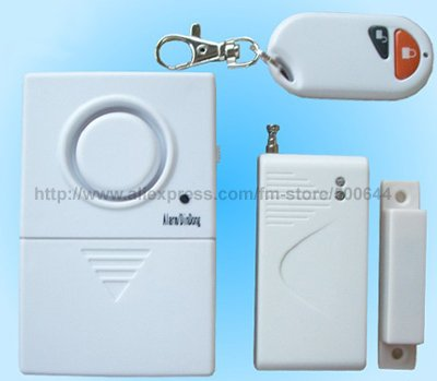 Window Door Remote Control Wireless Magnetic Anti-theft Alarm/Door Burglar Alarm System & 30Sets/Lot DHL/UPS/EMS