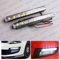 2 PCS Xenon White LED Car Auto DRL Condução Daytime Running luz de Estacionamento lâmpada Fog Light Head Lamp LED DRL 8 Daylight Kit Super branco