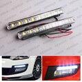 2 UNIDS Xenon Blanco LED Car Auto DRL Estacionamiento luz de Conducción Diurna lámpara de la Niebla de la Lámpara Principal Ligera 8 LED DRL Luz Diurna Kit Super blanco
