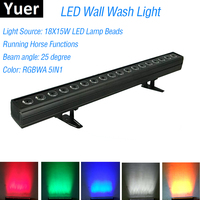18X15W LED RGBWA 5IN1 LED Wall Wash Light DMX LED Bar DMX Line Bar Wash Stage Light Party Wedding Events Lighting Fast Shipping