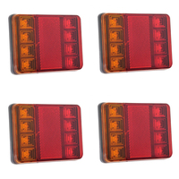 2Pcs 8 LEDS Car Truck Rear Tail Light Warning Lights Rear Lamps Waterproof Tailights Rear Parts