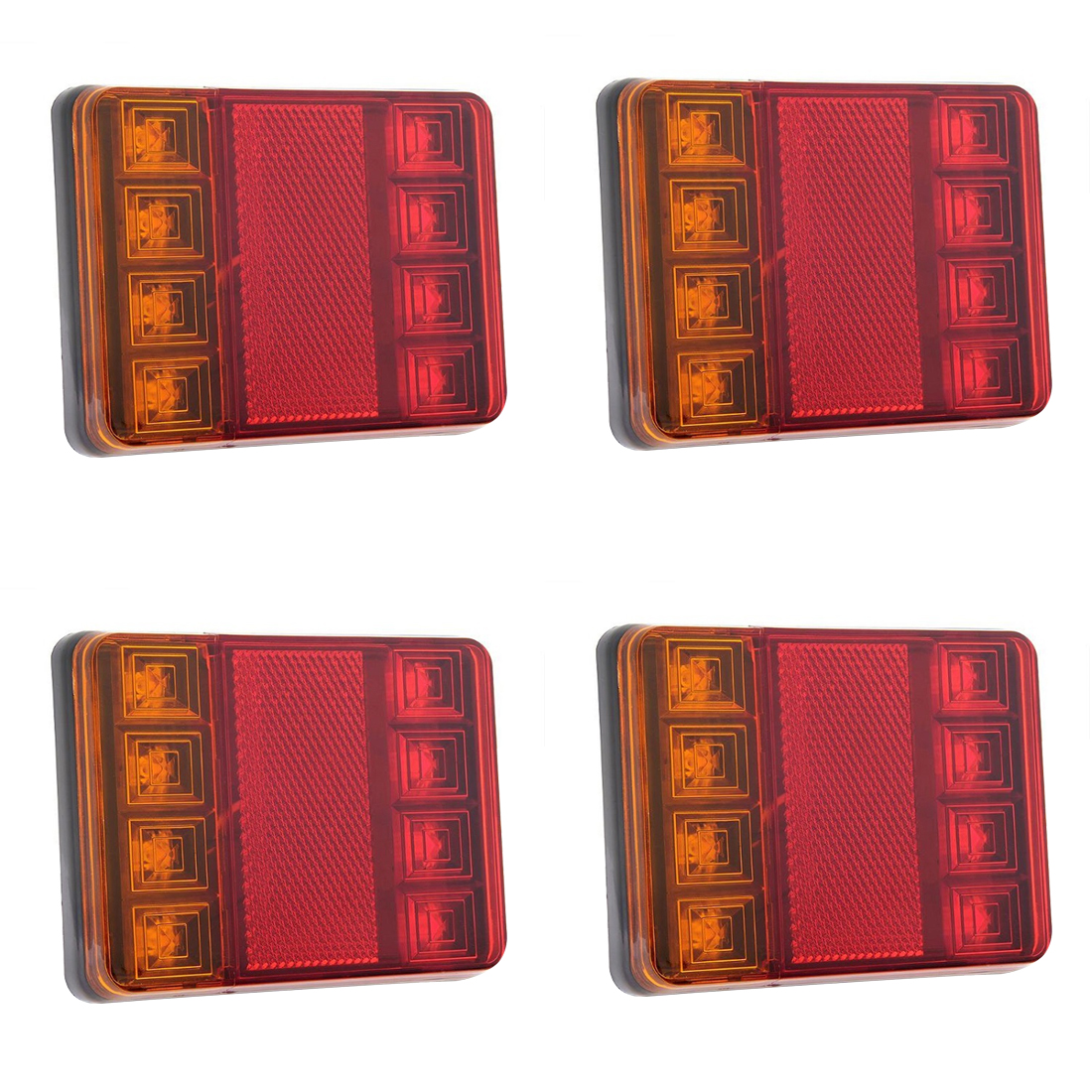 Tonewan 2шт 8 LED автомобиль грузовик задний хвост свет предупреждение огни задние фонари Водонепроницаемый и внутреннее задней части для грузовик прицеп 12 В постоянного тока