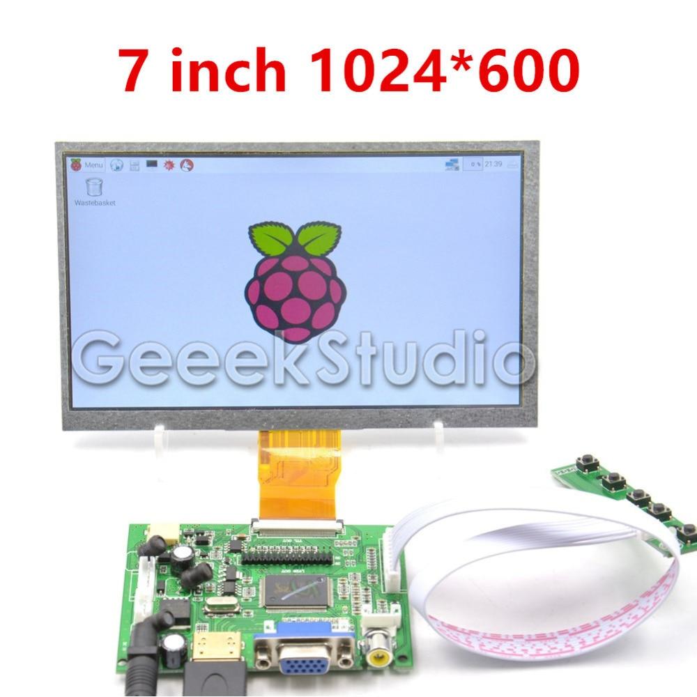 Raspberry Pi 7 zoll LCD Display 1024*600 TFT Monitor Screen mit für Raspberry Pi 2/3 Modell B