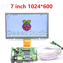 Raspberry Pi 7 zoll LCD Display 1024*600 TFT Bildschirm mit Stick Bord HDMI VGA 2AV für Raspberry Pi 3/2 Modell B/B +