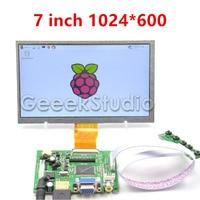 Raspberry Pi 7 Inch LCD Display 1024 600 TFT Screen Monitor With Drive Board HDMI VGA