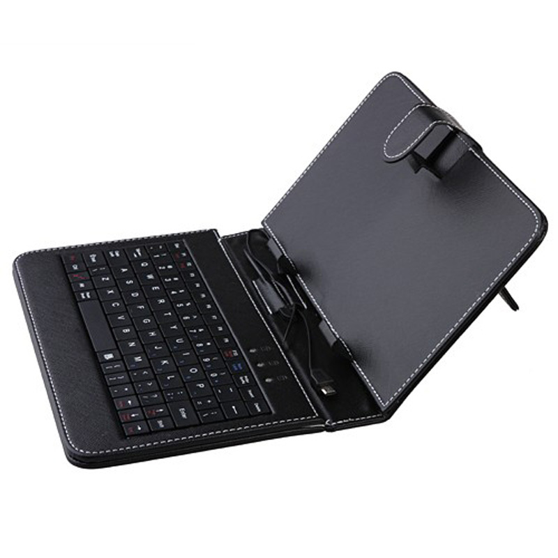NEW HOT Selling 7 inch Universal Leather Case Cover with Micro USB Keyboard For 7 inch Tablet PC universal wired usb keyboard for windows xp window 7 and above androids 3 0 and above keyboard skin cover new arrival