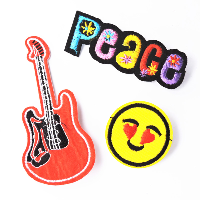Bovvsky Handmade Fabric Collar Brooch Food Guitar Brooch Sets Brooch Pins Women Men Jewelry Cartoon Badge Clothing Decoration