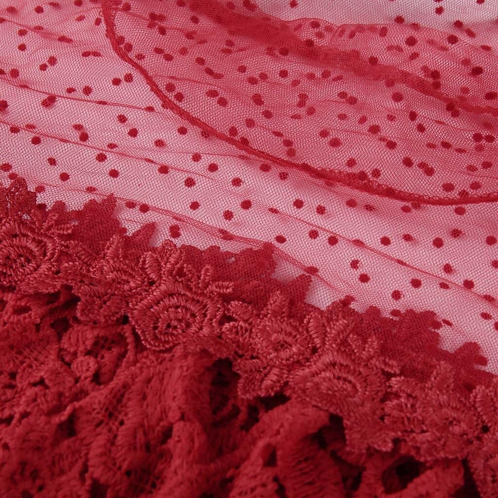 Feminina rouge Manches Camisa Offre Noir Et Chemisier Flare Dames Hauts Printemps Été Femmes Spéciale Chemisiers blanc Point Imprimé F4WqA7Ypna