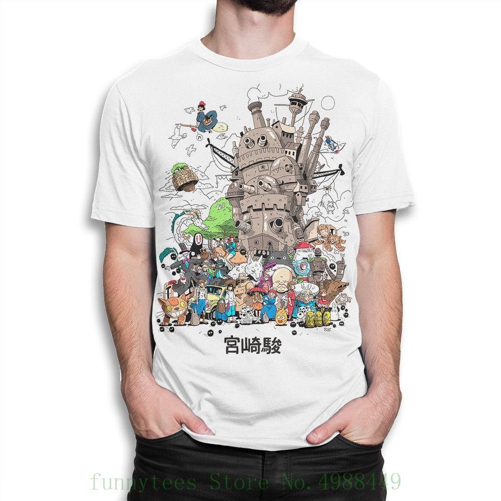 Studio Ghibli Camiseta Combo, Hayao Miyazaki Camiseta, Roupas de Marca das Mulheres Dos Homens de Todos Os Tamanhos Novo Engraçado