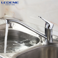LEDEME Classic Style Kitchen Faucet Solid Brass Single Handle Cold And Hot Water Tap 360 Degree