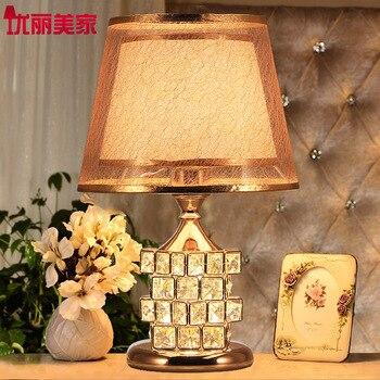 TUDA 2017 Modern Crystal LED Table Lamp European-style Luxury Wedding Gift Ideas Rubik's Cube Sweet Bedroom Decoration Lamp