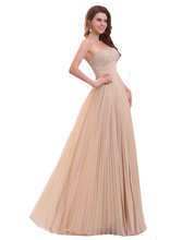 MDBRIDAL Chiffon Bridesmaid Dresses with beading Strapless A-line Women Long Formal Dress for Weddings
