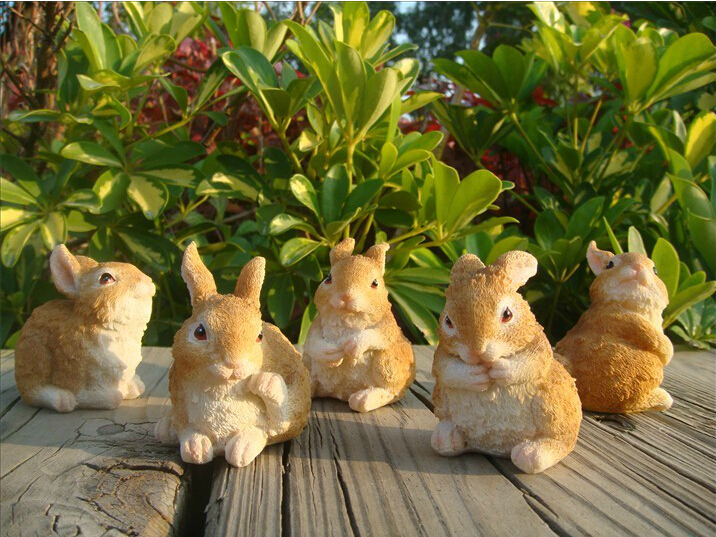 Aliexpresscom Buy Very cute mini rabbit resin crafts Animal