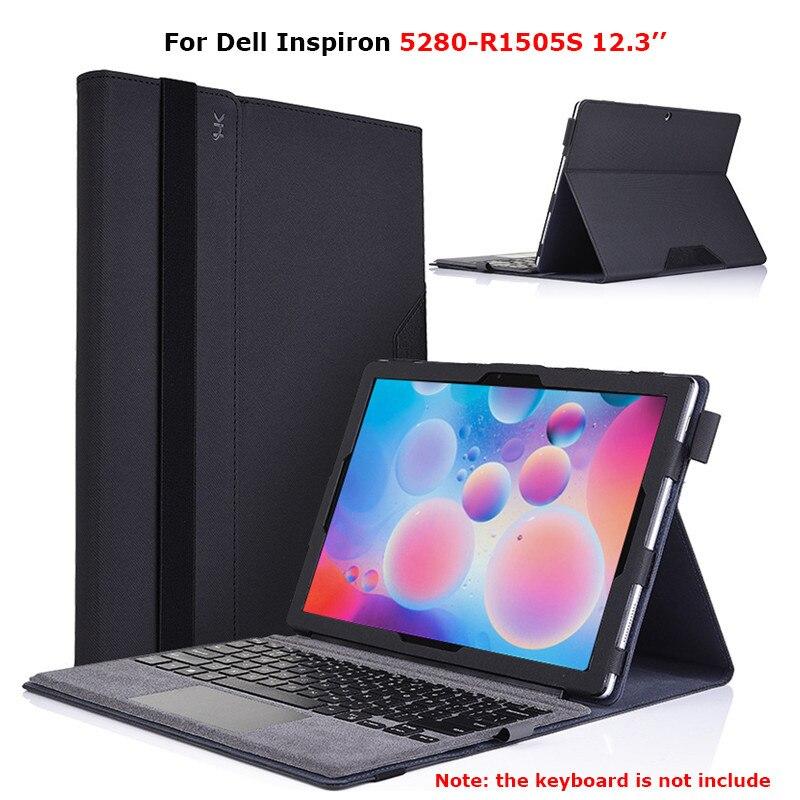 Pour Dell Inspiron 5280-R1505S 12.3 pouces PU cuir tablette pochette pour ordinateur portable étui Drop-résidu Stand couverture pour Dell Inspiron 5280