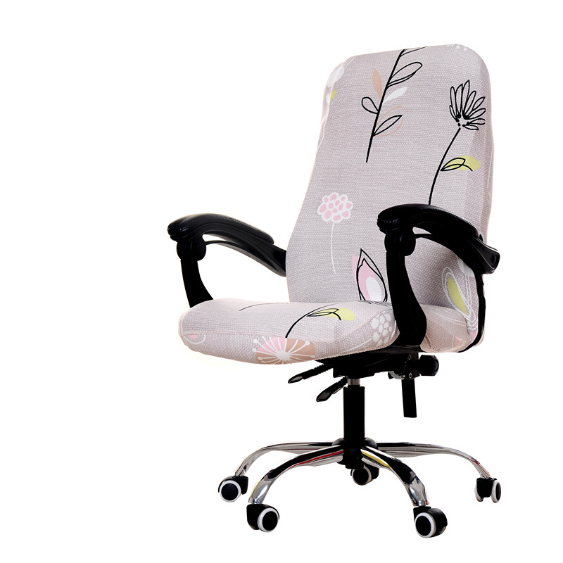 Quality Solid Spandex Chair Cover For Office Kitchen Party Dining Seat Case Silpcover Computer Chair Covers housse de chaise in Chair Cover from Home Garden