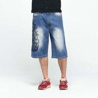 Vendita calda degli uomini Shorts In Denim Moda Maschile Pantaloncini Cargo Shorts In Denim Lavato Brevi Pantaloni Degli Uomini Dei Jeans Più Il Formato