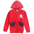 red fashion kids hoodies children wear jacket zipper new year Sweatshirts for teenage girls baby sports suits cotton clothing