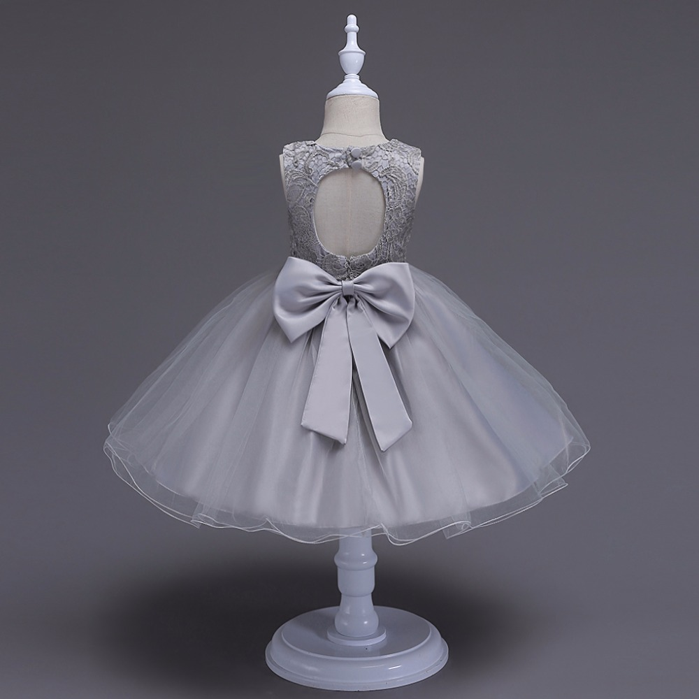 Girl Halter Prom Dress Fashion 2018 Baby Girl Cute Clothes Flower Girls Dress for Kids Wedding Party Clothing Child Lace Dress 2016 new style kids infant baby girl flower girl dress for wedding girls party dress with big bow lace dress for 3 8years