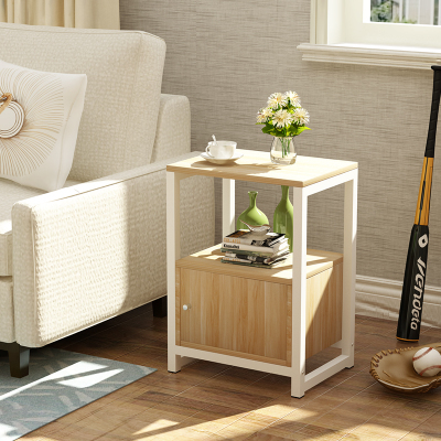 Simple Modern Wooden Tea Table Side Table Assembly Living Room Sofa Table Bedroom Bedside Table Corner Cabinet Living Room Table - 5