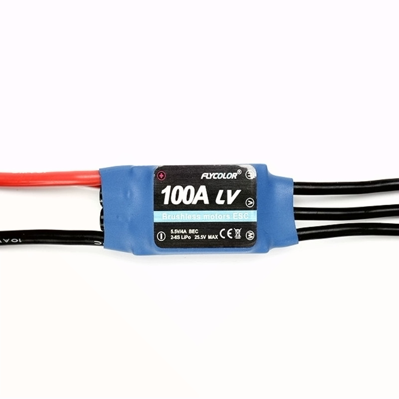 Flycolor 100A RC brushless ESC 2-6S SBEC 5.5V/4A hobby model aircraft helicopter part accessories electronic speed controller 2016 flycolor 90a brushless waterproof alu alloy electronic speed control esc with 5 5v 5a bec for rc boat aircraft free ship